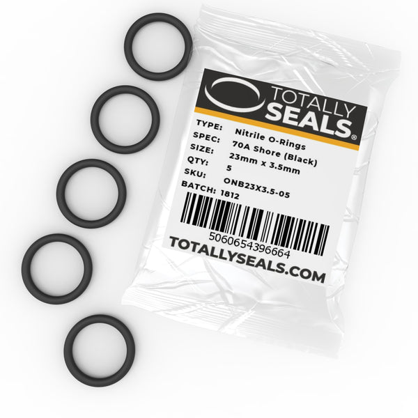 23mm x 3.5mm (30mm OD) Nitrile O-Rings - Totally Seals