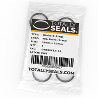 25mm x 2.5mm (30mm OD) Nitrile O-Rings - Totally Seals