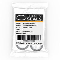 25mm x 4mm (33mm OD) Nitrile O-Rings - Totally Seals