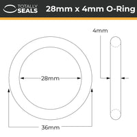 28mm x 4mm (36mm OD) Nitrile O-Rings - Totally Seals®