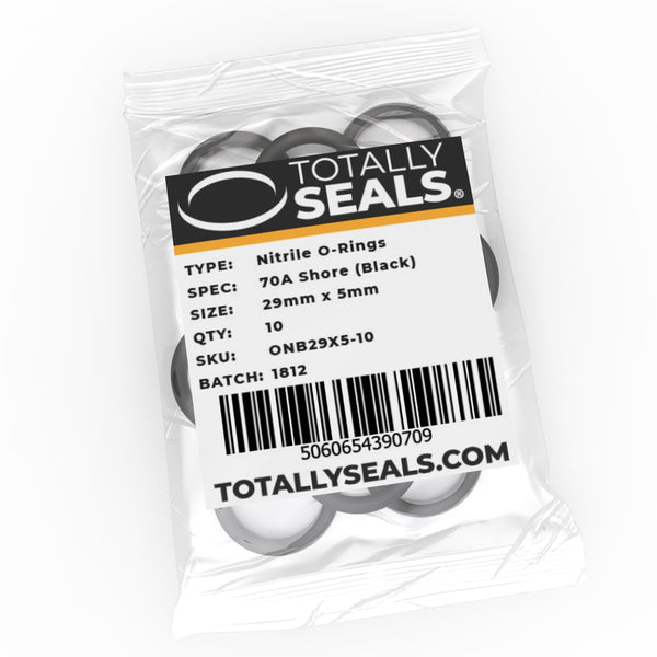 29mm x 5mm (39mm OD) Nitrile O-Rings - Totally Seals®