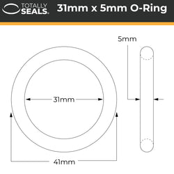 31mm x 5mm (41mm OD) Nitrile O-Rings