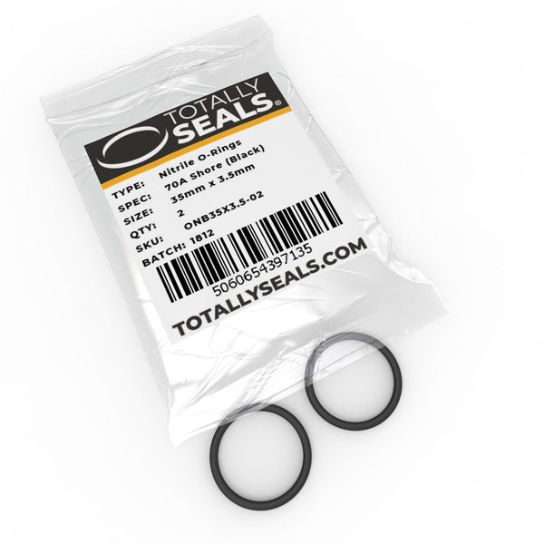 35mm x 3.5mm (42mm OD) Nitrile O-Rings - Totally Seals