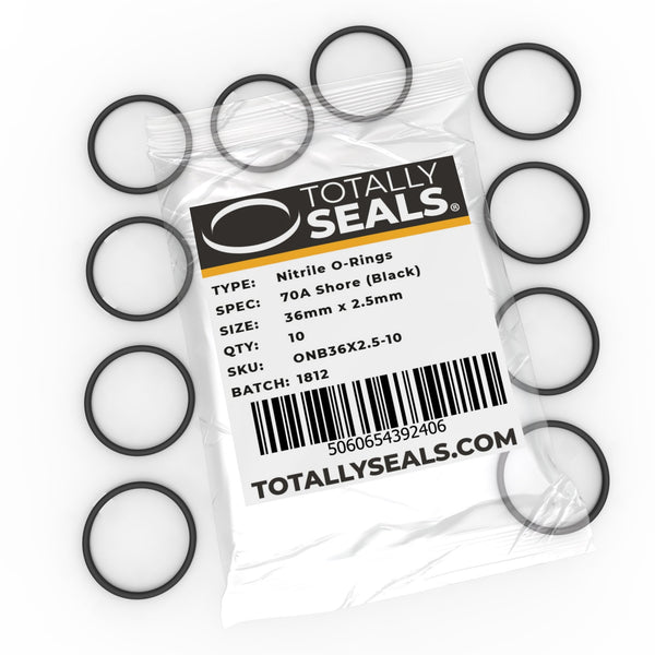 36mm x 2.5mm (41mm OD) Nitrile O-Rings - Totally Seals