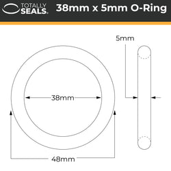 38mm x 5mm (48mm OD) Nitrile O-Rings