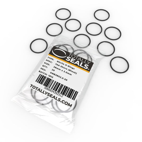 38mm x 2.5mm (43mm OD) Nitrile O-Rings - Totally Seals