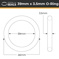 39mm x 3.5mm (46mm OD) Nitrile O-Rings