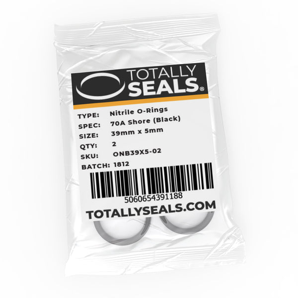 39mm x 5mm (49mm OD) Nitrile O-Rings - Totally Seals