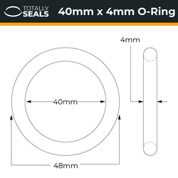 40mm x 4mm (48mm OD) Nitrile O-Rings