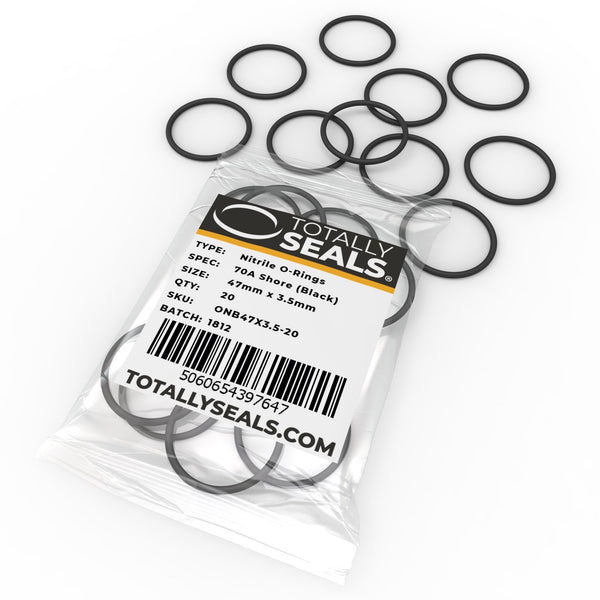47mm x 3.5mm (54mm OD) Nitrile O-Rings - Totally Seals