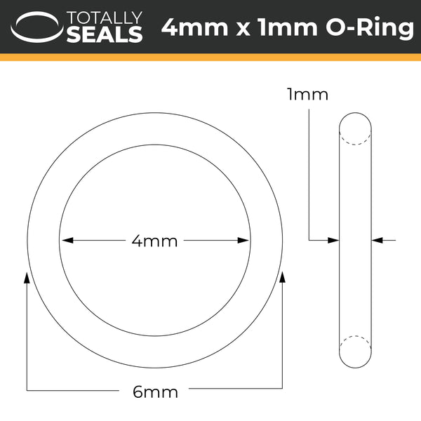 4mm x 1mm (6mm OD) Nitrile O-Rings - Totally Seals