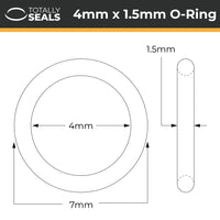 4mm x 1.5mm (7mm OD) Nitrile O-Rings - Totally Seals