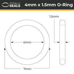 4mm x 1.5mm (7mm OD) Nitrile O-Rings