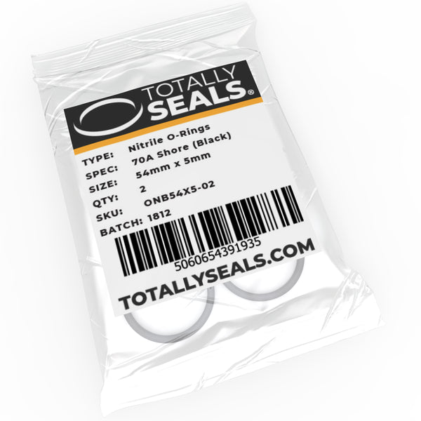54mm x 5mm (64mm OD) Nitrile O-Rings - Totally Seals®