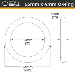 55mm x 4mm (63mm OD) Nitrile O-Rings