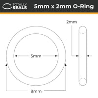 5mm x 2mm (9mm OD) Nitrile O-Rings - Totally Seals