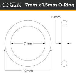 7mm x 1.5mm (10mm OD) Nitrile O-Rings