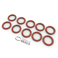 6mm x 3mm (12mm OD) Silicone O-Rings