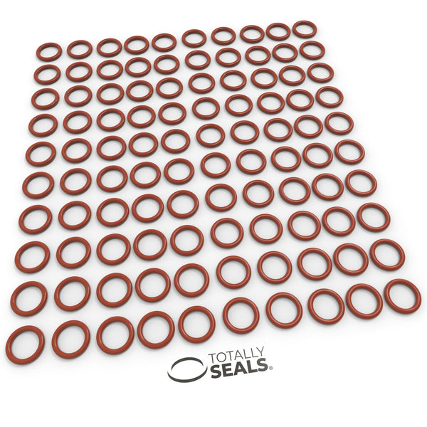 25mm x 2.5mm (30mm OD) Silicone O-Rings - Totally Seals®