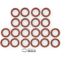 12mm x 2mm Red Silicone Pack of 10 VMQ 55A Shore Hardness 16mm OD Rubber Metric O-Rings