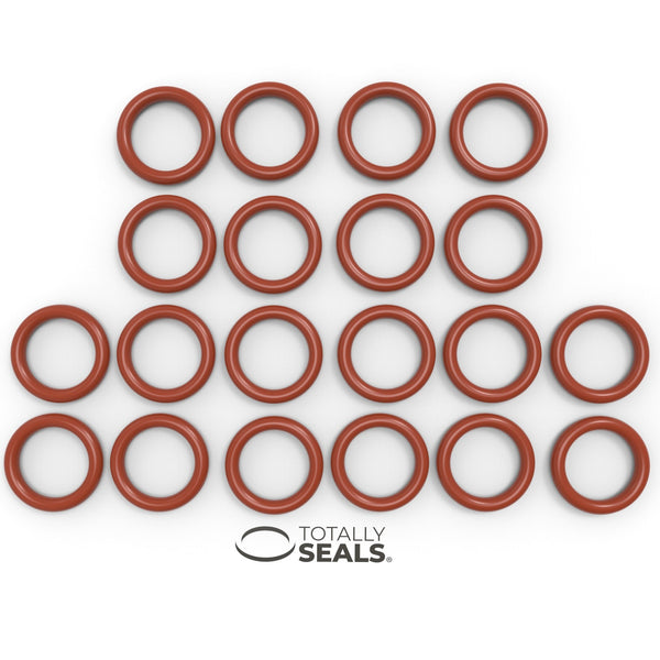 13mm x 3mm (19mm OD) Silicone O-Rings - Totally Seals