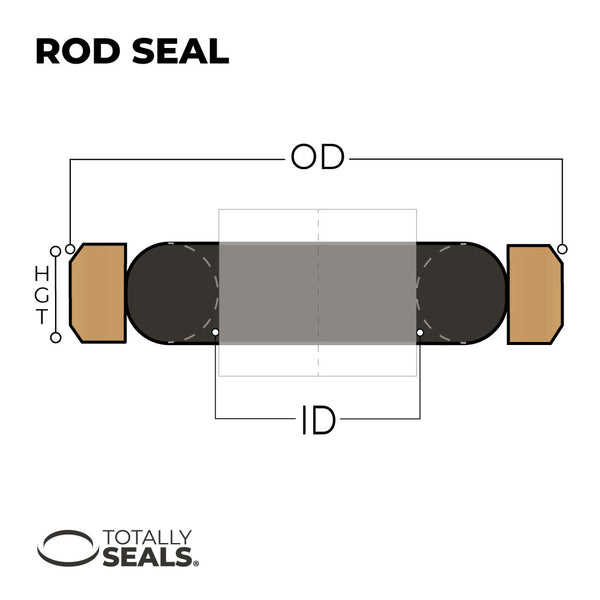 45mm x 4mm  - Hydraulic Piston Seal - Totally Seals