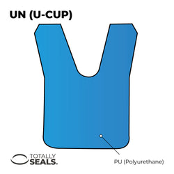 20mm x 27mm x 6mm U-Cup Hydraulic Seal
