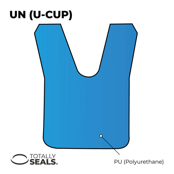 20mm x 28mm x 7mm U-Cup Hydraulic Seal - Totally Seals