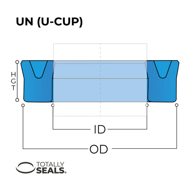 45mm x 55mm x 10mm U-Cup Hydraulic Seal - Totally Seals