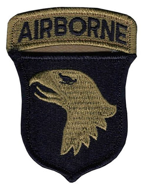 US Army 101st Airborne Division OCP Patch with Hook Fastener and Airborne Tab (pair) - Sta-Brite Insignia INC.