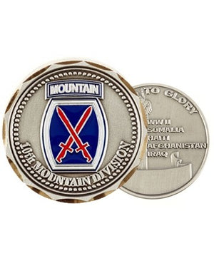 US Army 10th Mountain Division Challenge Coin - Sta-Brite Insignia INC.