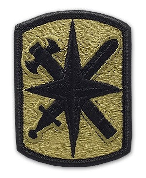 US Army 14th Military police Brigade OCP Patch with Hook Fastener (pair) - Sta-Brite Insignia INC.