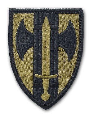 US Army 18th Military Police Brigade OCP Patch with Hook Fastener (pair) - Sta-Brite Insignia INC.
