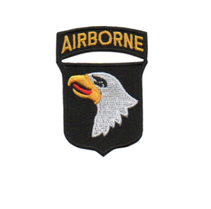 US Army 101st Airborne Division and Airborne Tab Color Patch with Hook Fastener - Sta-Brite Insignia INC.