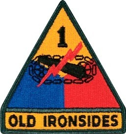 US Army 1st Armored Division (Old Ironsides) Color Sew-on Patch - Sta-Brite Insignia INC.