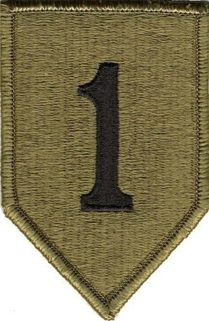 US Army 1st Infantry Division OCP Patch with Hook Fastener (pair) - Sta-Brite Insignia INC.