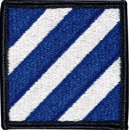 US Army 3rd Infantry Division Color Sew-on Patch - Sta-Brite Insignia INC.