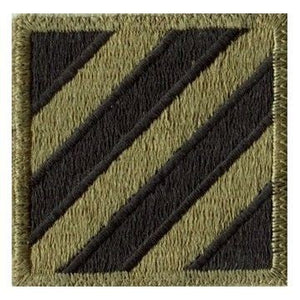 US Army 3rd Infantry Division OCP Patch WITHOUT Hook Fastener (pair) - Sta-Brite Insignia INC.