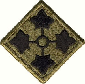 US Army 4th Infantry Division OCP Patch with Hook Fastener (pair) - Sta-Brite Insignia INC.