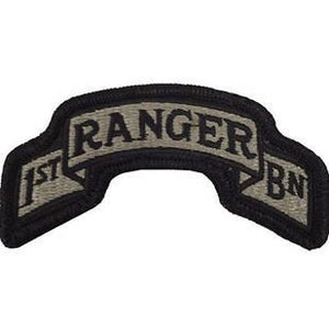 US Army 75th Ranger Regiment 1st Battalion ACU Scroll with Hook Fastener (pair) - Sta-Brite Insignia INC.