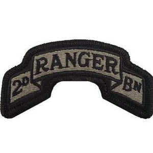 US Army 75th Ranger Regiment 2nd Battalion ACU Scroll with Hook Fastener (pair) - Sta-Brite Insignia INC.