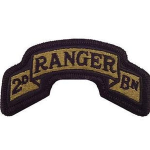 US Army 75th Ranger Regiment 2nd Battalion OCP Scroll with Hook Fastener (pair) - Sta-Brite Insignia INC.