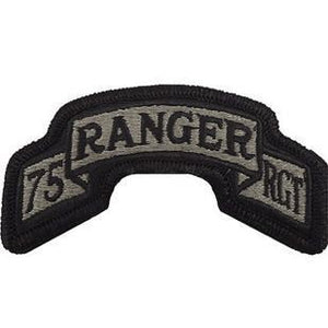 US Army 75th Ranger Regiment ACU Scroll with Hook Fastener (pair) - Sta-Brite Insignia INC.