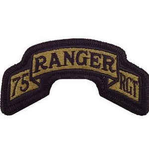 US Army 75th Ranger Regiment OCP Scroll with Hook Fastener (pair) - Sta-Brite Insignia INC.