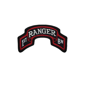 US Army 75th Ranger Regiment 1st Battalion Color Scroll Sew-On (pair) - Sta-Brite Insignia INC.