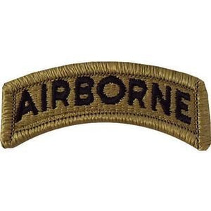 US Army Airborn OCP Tab with Hook Fastener (pair) - Sta-Brite Insignia INC.