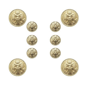 US Army Male STA-BRITE® Button Set 6-25 Ligne & 4-36 Ligne - Sta-Brite Insignia INC.