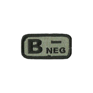 US Army B- Blood Type ACU Dark Patch with Hook Fastener - Sta-Brite Insignia INC.