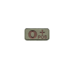 US Army O+ Blood Type OCP Patch with Hook Fastener - Sta-Brite Insignia INC.
