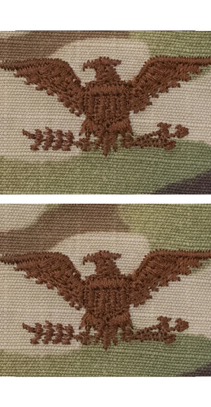 US Air Force O6 Colonel OCP Spice Brown Sew-on Rank For Cap - Sta-Brite Insignia INC.